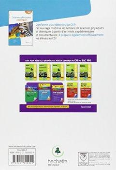 Livres Couvertures de Sciences physiques et chimique CAP - Livre élève Consommable - Ed. 2013