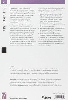 Livres Couvertures de Cryptographie : Théorie et pratique