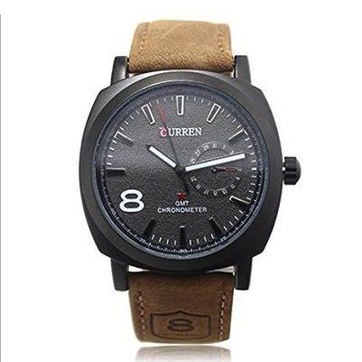 BLACK FRIDAY SALE 50% OFF! Curren Men's Watches Sports Men Military Quartz Watch Leather Strap Wristwatch