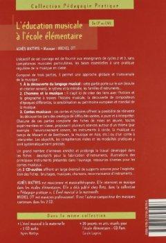 Livres Couvertures de L'éducation musicale à l'école élémentaire (+ 2 CD audio)