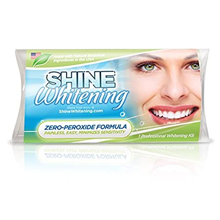 Shine Whitening teeth whitening system with Zero Peroxide.