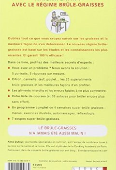 Livres Couvertures de Maigrir enfin ! avec le régime brûle-graisses, c'est malin : votre programme complet super-brûle-graisses en 30 jours = menus, exercices illustrés, automassages...