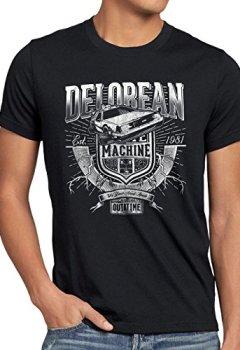 Livres Couvertures de style3 Outa Time T-Shirt Homme DMC futur delorean voyage dans le temps, Taille:M;Couleur:Noir