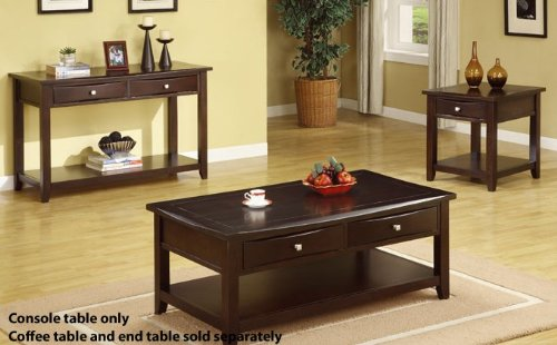 Image of Console Table with Storage Drawers in Espresso Finish (VF_F6220)