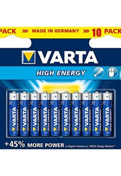 Livres Couvertures de Varta High Energy AAA 10 pack