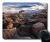 Mouse Pad Oblong Shaped Mouse Mat Bisti Badlands San Juan County New Mexico Us Design Natural Eco Rubber Durable Computer Desk Stationery Accessories Mouse Pads For Gift Support Wired Wireless or Bluetooth Mouse