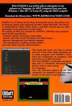 Livres Couvertures de FUSION-C: MSX C Library complete journey.