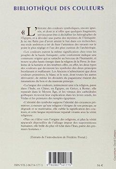 Livres Couvertures de Symbolique des couleurs : Des couleurs symboliques dans l'Antiquité, le Moyen Age et les Temps modernes