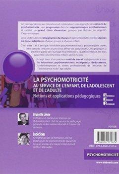 Livres Couvertures de Psychomotricité au service de l'enfant : Notions et applications pédagogiques