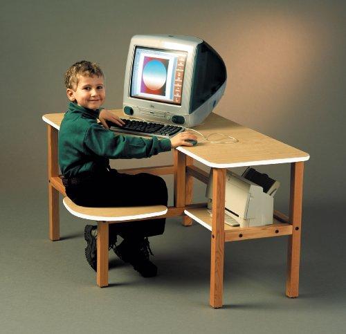 Picture of Comfortable Wild Zoo Furniture GRD MPL-WHT-WZ Grade School Computer Desk in Maple with White Trim (B0027ACRXO) (Computer Desks)