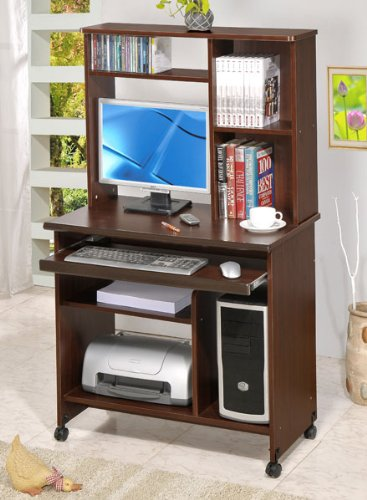Picture of Comfortable Beautiful Computer Desk in Walnut Finish #PD F41247 (B004HGX1XG) (Computer Desks)