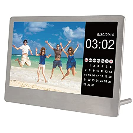 This 7 Inch Stainless Steel Ultra-Thin Digital frame will blow you away.  The super slim frame is sleek and stylish - it would look amazing on any table or desk.  The Frame is adjustable for vertical or horizontal orientation...plug in a USB/SD/SDHC ...