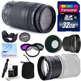 Canon-Lens-Kit-With-Canon-EF-75-300mm-f4-56-III-Telephoto-Zoom-Lens-58mm-Thread-Wide-Telephoto-Auxiliary-Lenses-3-Piece-Filter-Kit-32-GB-Transcend-SD-Card-for-Canon-DSLR-Cameras