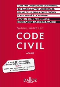 Livres Couvertures de Code civil 2017. Édition limitée - 116e éd.