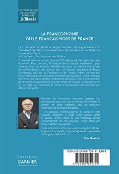 Livres Couvertures de La francophonie ou le français hors de France