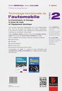 Livres Couvertures de Technologie fonctionnelle de l'automobile - Tome 2 - 7e éd.