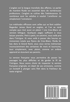 Livres Couvertures de Croc-Blanc - Edition bilingue