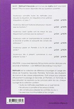 Livres Couvertures de Méthod's Mathématiques Seconde Conforme au Nouveau Programme