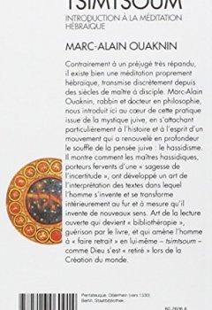 Livres Couvertures de Tsimtsoum : Introduction à la méditation hébraïque