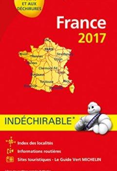 Livres Couvertures de Carte France Indéchirable Michelin 2017