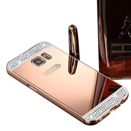 For-Samsung-Galaxy-S7-TOOPOOT-Rhinestone-Metal-Frame-PC-Mirror-Case-For-Samsung-Galaxy-S7-rose-gold