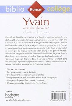 Livres Couvertures de Bibliocollege Yvain Ou Le Chevalier Au Lion