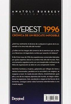 Portada del libro deEverest 1996. Crónica de un rescate imposible (Literatura (desnivel))