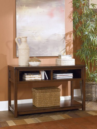 Image of Kayden Medium Brown Sofa Console Table (T548-4)