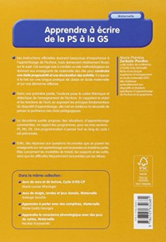 Livres Couvertures de Apprendre à écrire de la PS à la GS
