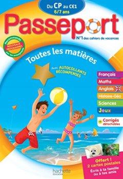 Livres Couvertures de Passeport Du CP au CE1 - Cahier de vacances
