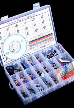 Livres Couvertures de Quimat Arduino Kit et Raspberry Pi 3 2 B B+ Capteur Upgraded 39 en 1 Kit de Capteur Module pour Arduino UNO R3 MEGA 2560 Nano Sensor Module Kit de Démarrage avec Instruction