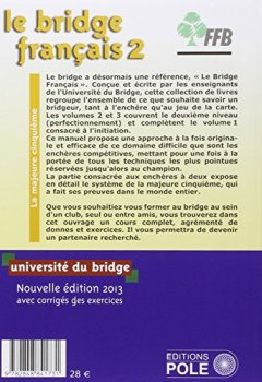 Livres Couvertures de Le bridge français : Tome 2, perfectionnement, les enchères (majeure cinquième)