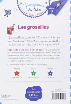 Livres Couvertures de Sami et Julie CP Niveau 3 Les Groseilles