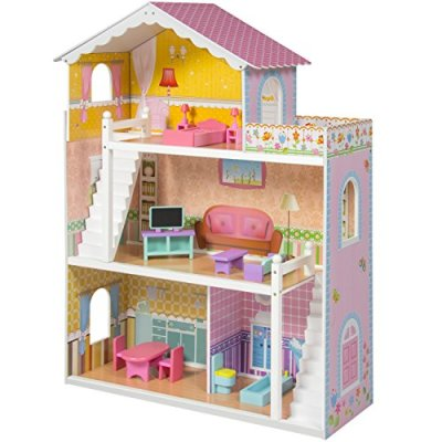 Best-Choice-Products-Wooden-Dollhouse-with-Furniture