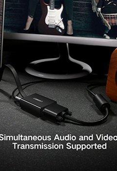 Livres Couvertures de UGREEN Adaptateur HDMI vers VGA 1080p avec Sortie Audio pour Rasberry Pi, TV Box, Chromebook, Macbook, PC, Ordinateur, Écran (Noir)