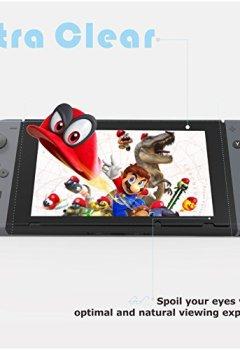 Livres Couvertures de Protection écran Nintendo Switch PORTHOLIC [2 unités] [Anti-éclatement] Film Vitre Protecteur en Verre Trempé, 6.2pouces, Epaisseur 0.24mm, Ultra Clair, Anti-bulles, Anti-empreintes et Résistant aux Rayures