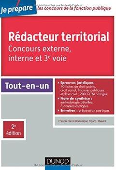 Livres Couvertures de Rédacteur territorial - Concours externe, interne et 3e voie - 2e éd. - Tout-en-un