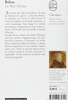 Livres Couvertures de Le Père Goriot