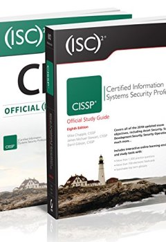Livres Couvertures de ISC2 CISSP Certified Information Systems Security Professional Official Study Guide 8th Ed. + ISC2 CISSP Certified Information Systems Security Professional  Official Practice Tests Kit