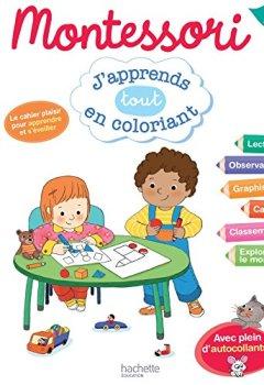 Livres Couvertures de Montessori J'apprends tout en coloriant PS
