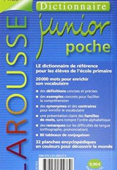 Livres Couvertures de Larousse Junior Poche