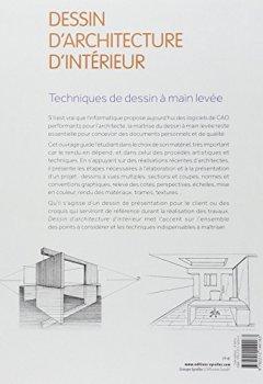 Livres Couvertures de Dessin d'architecture d'intérieur : Techniques de dessin à main levée