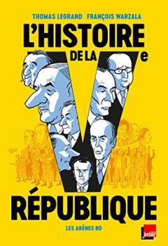 Livres Couvertures de L'Histoire de la Ve République en BD