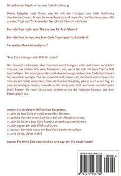 Buchdeckel von Low Carb: Die goldenen Regeln einer Low Carb-Ernährung - Inklusive 60 Low Carb Rezepte ohne Kohlenhydrate