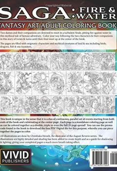 Livres Couvertures de Saga: Fire & Water: Fantasy Art Adult Coloring Book