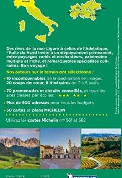 Livres Couvertures de Guide Vert Italie du Nord Michelin