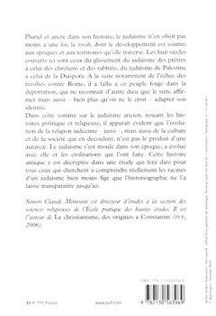 Livres Couvertures de Le judaïsme ancien du VIe siècle avant notre ère au IIIe siècle de notre ère : des prêtres aux rabbins