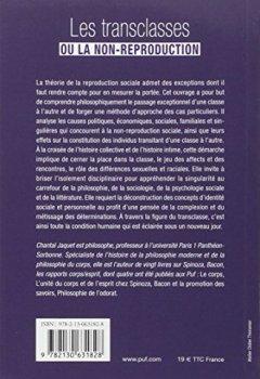Livres Couvertures de Les transclasses ou la non-reproduction