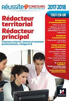 Livres Couvertures de Réussite Concours Rédacteur territorial Rédacteur principal catégorie B. 2017-2018 Nº59