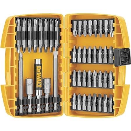Includes 45-Piece Screwdriving Bit Set - DW2166, Tough Case